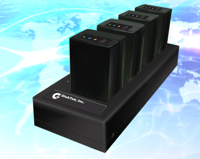 Lithium Ion Phosphate Battery (LiFePO4) 4 Bay Multi Position Charger