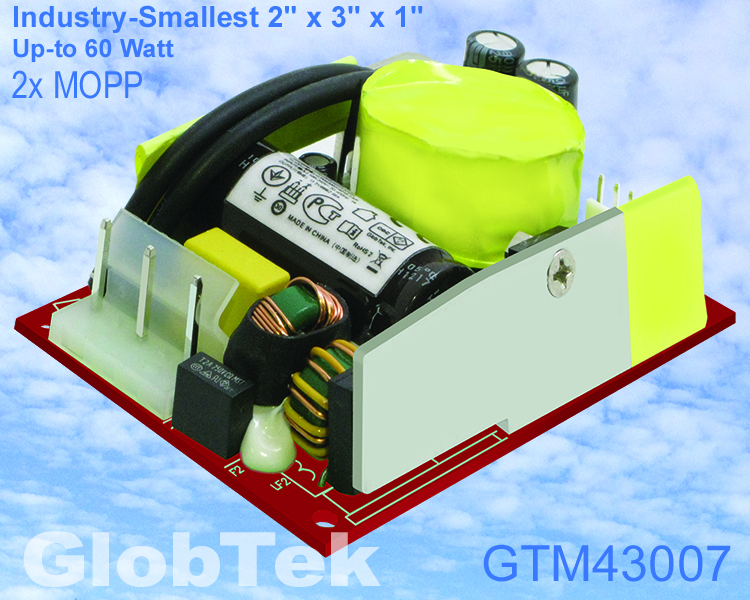 GlobTek Introduces One of Industry-Smallest 2