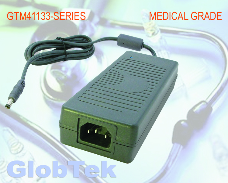 GTM41133-90VV-x.x-T3, Medical Power Supply, Desktop/External, Regulated Switchmode AC-DC, Input Rating: 100-240V~, 50-60 Hz, IEC 60320/C14 AC Inlet Connector, Class I, Earth Ground, Output Rating: 90 Watts,...