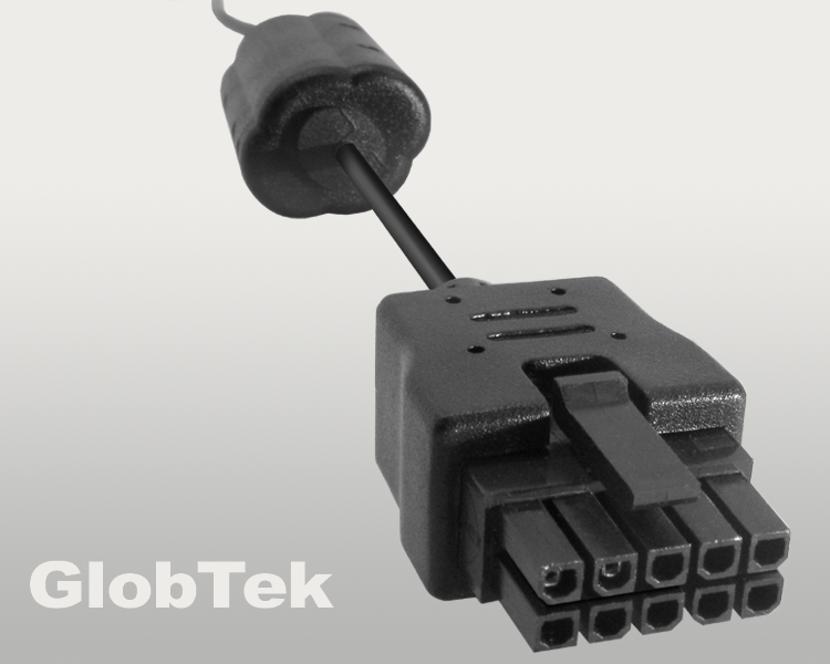 Overmold of 10 circuit MOLEX Micro-Fit 3.0™ Connectors, P/N 43025-1000, now available molded on PVC and Silicon Jacket Cable