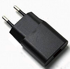 Level VI Compliant Power Supply / Charger from GlobTek with Integral USB Jack and European Fixed Blade Offers 5Vo @ 1A!
